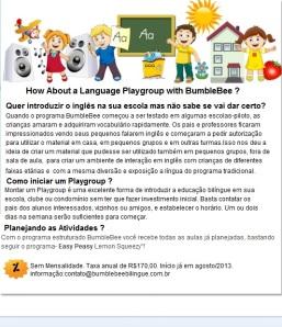 Campanha 2o semestre Playgroup