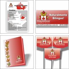 agendas,placas de sinalização, impressos